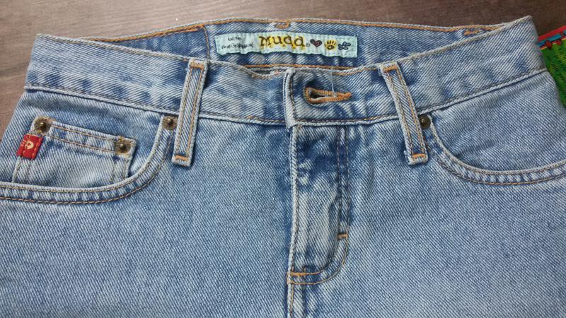 Распродажа! стильные джинсы, клеш. светло-голубой цвет - Фото 4