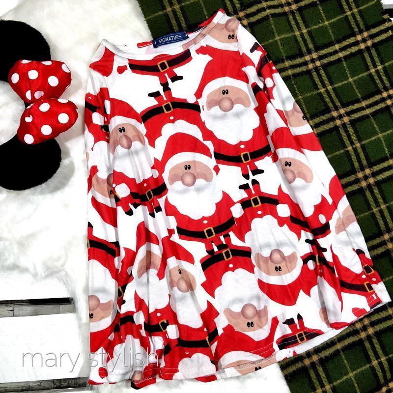 Детское новогоднее платье, санта клаус