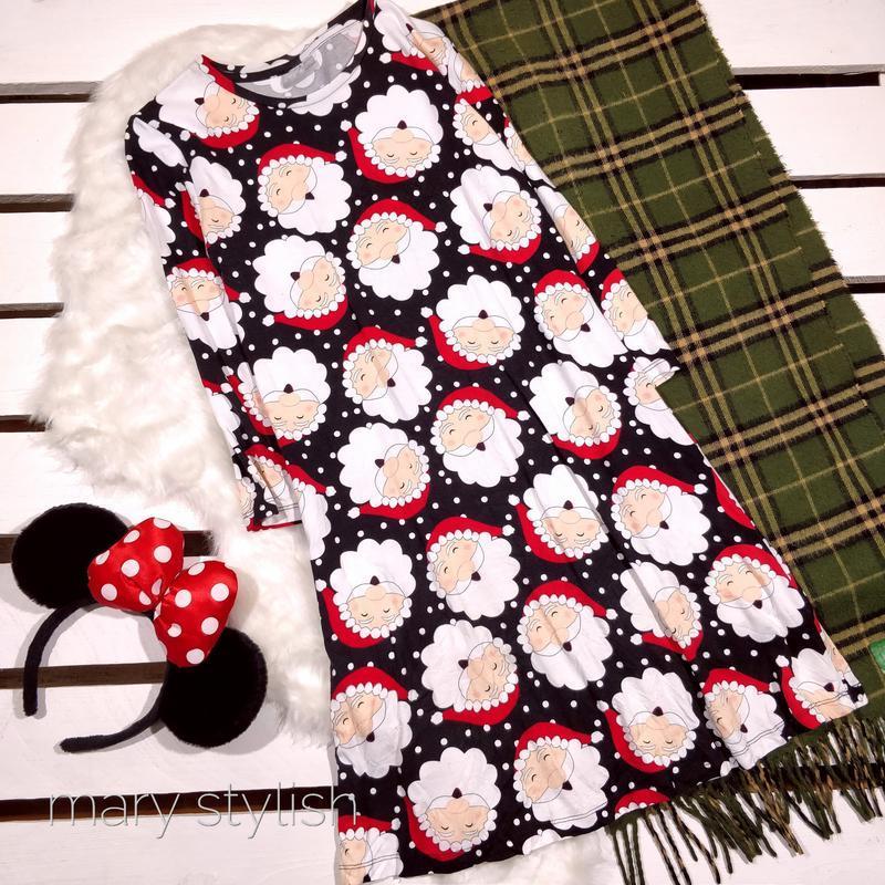 Детское новогоднее платье   санта клаус