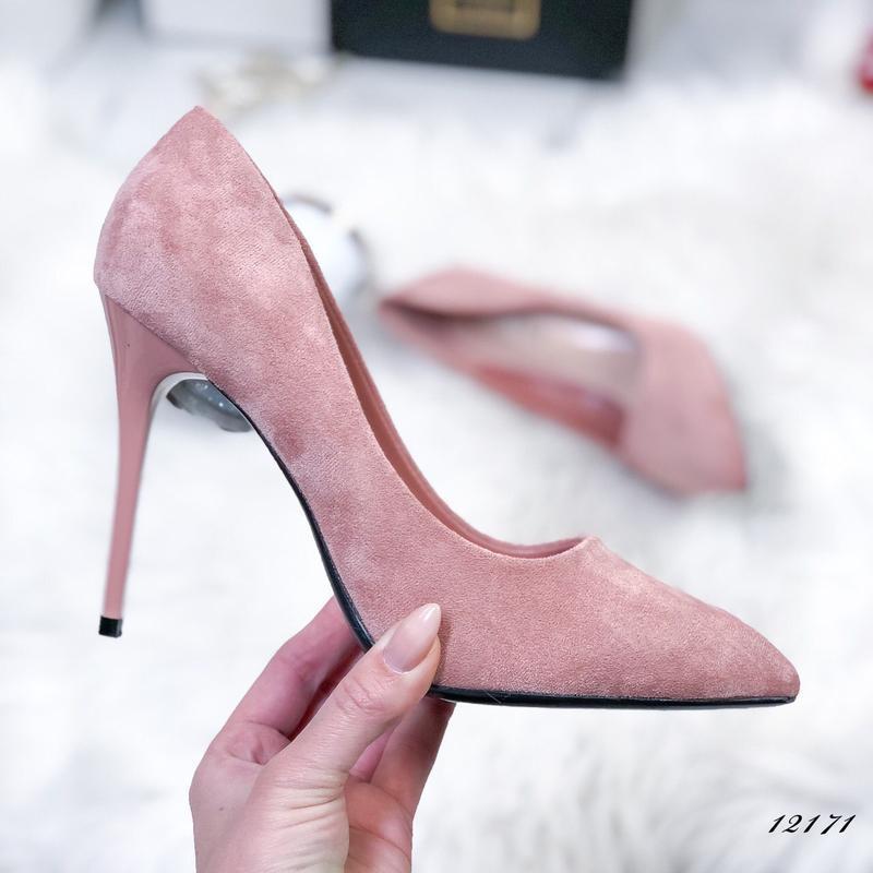 Стильные пудровые туфельки