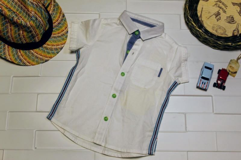 Рубашка для мальчика mothercare 6-9 месяцев