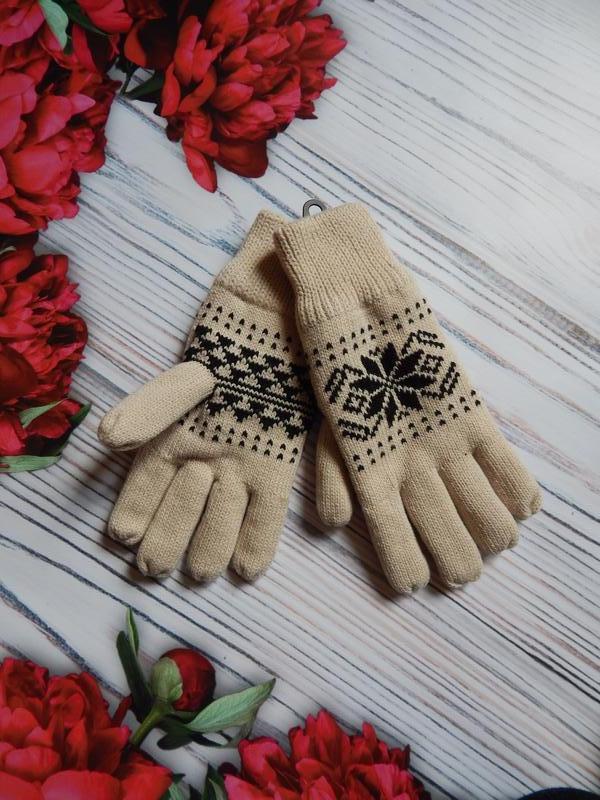 🌿теплые,  классные зимнее женские перчатки.  размер м - l-xl.🌿