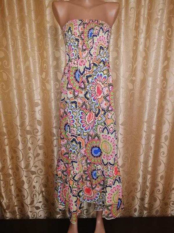 🌺🎀🌺длинное легкое платье, сарафан в цветочный принт 18\46 р. g...