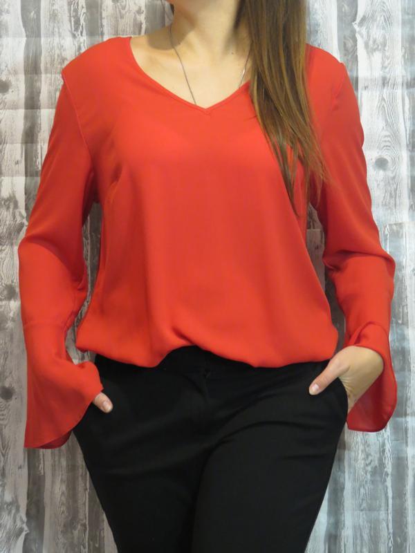 Шикарная красная блуза большой размер 50-52 размер primark