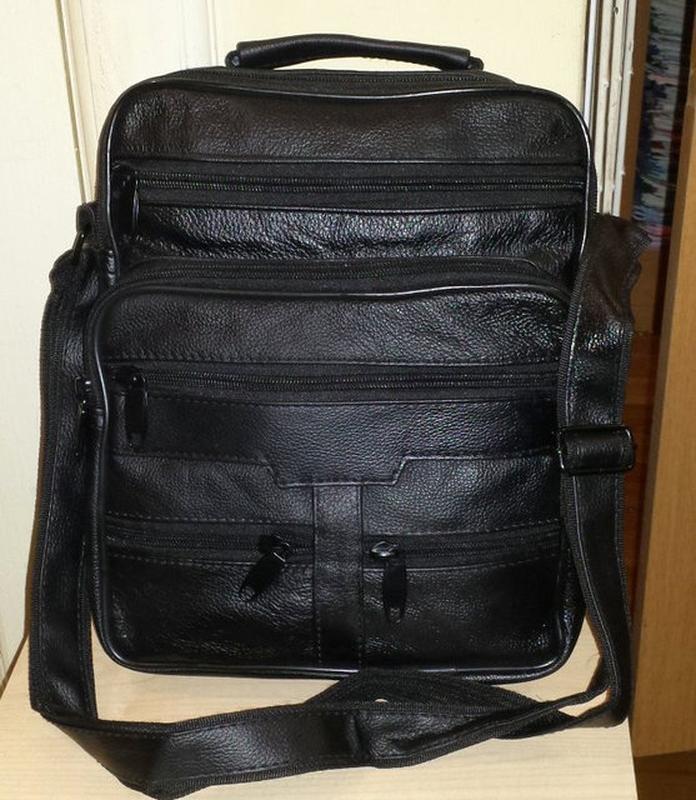 Мужская сумка из натуральной кожи s0452 (28x23x8)