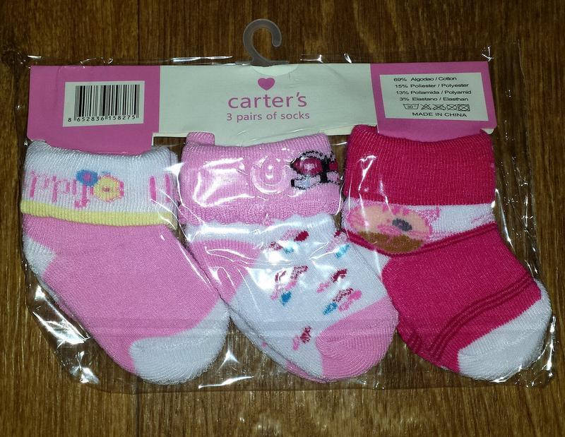 Наборы носочков для девочки carter`s