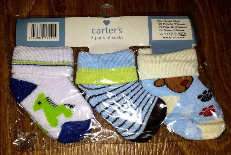 Набор носочков для мальчика carter`s