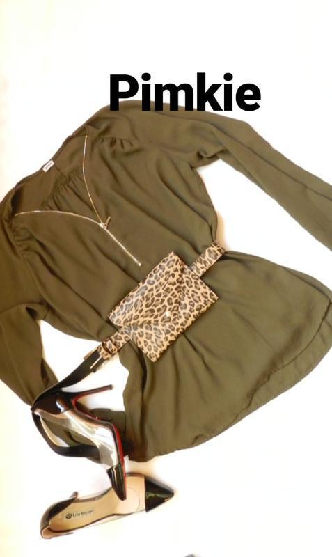 ✅красивая шифоновая блуза хаки