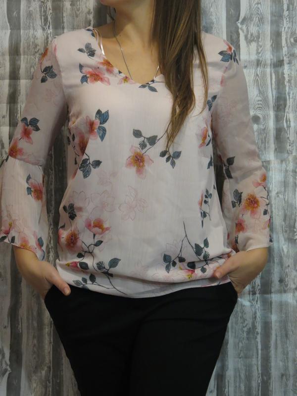 Нарядная блуза с длинным рукавом размер 48-50 f&f