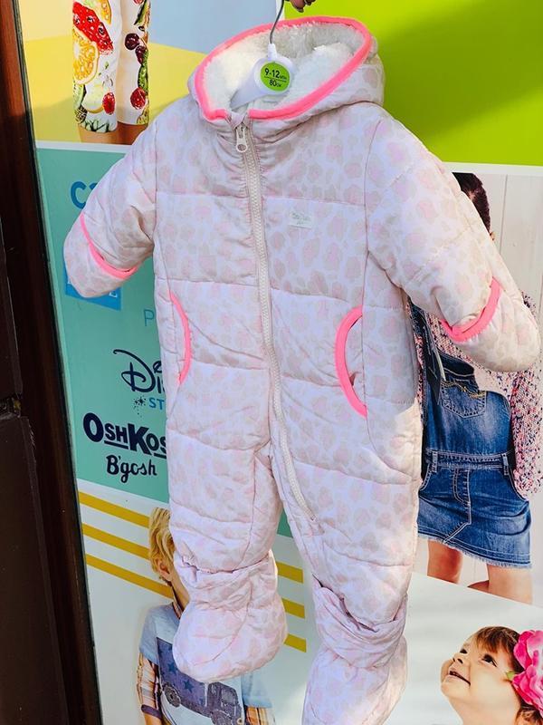 Зимний комбинезон oshkosh для девочки все в наличии