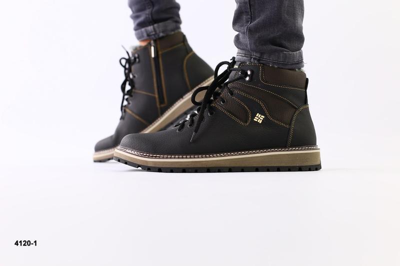 Lux обувь! качественные крепкие кожаные зимние ботинки мужские...