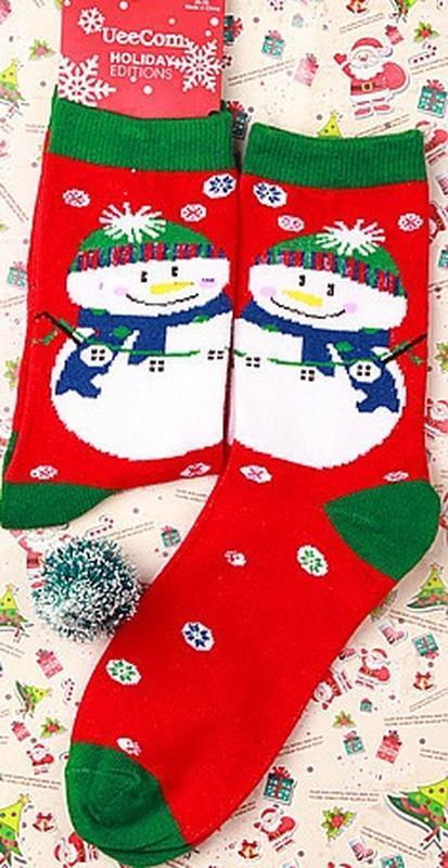 7-42 різдвяні шкарпетки рождественские новогодние носки