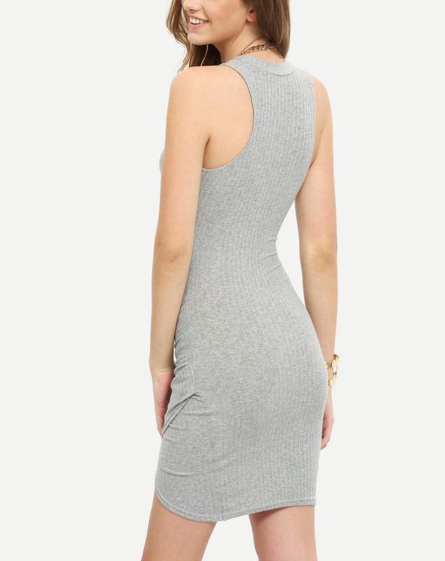 Стильное базовое  платье гольф в рубчик