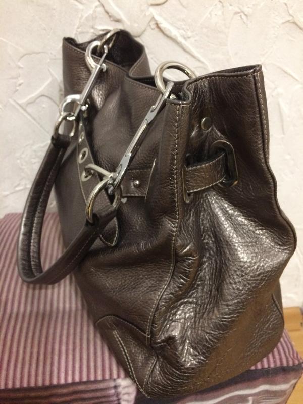 Очень классная стильная большая сумка  100% кожа - Фото 2