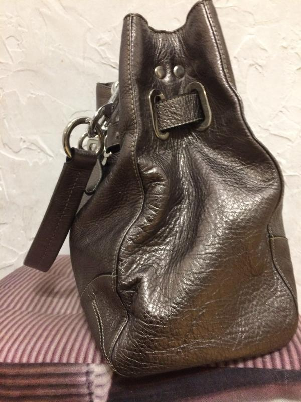 Очень классная стильная большая сумка  100% кожа - Фото 3