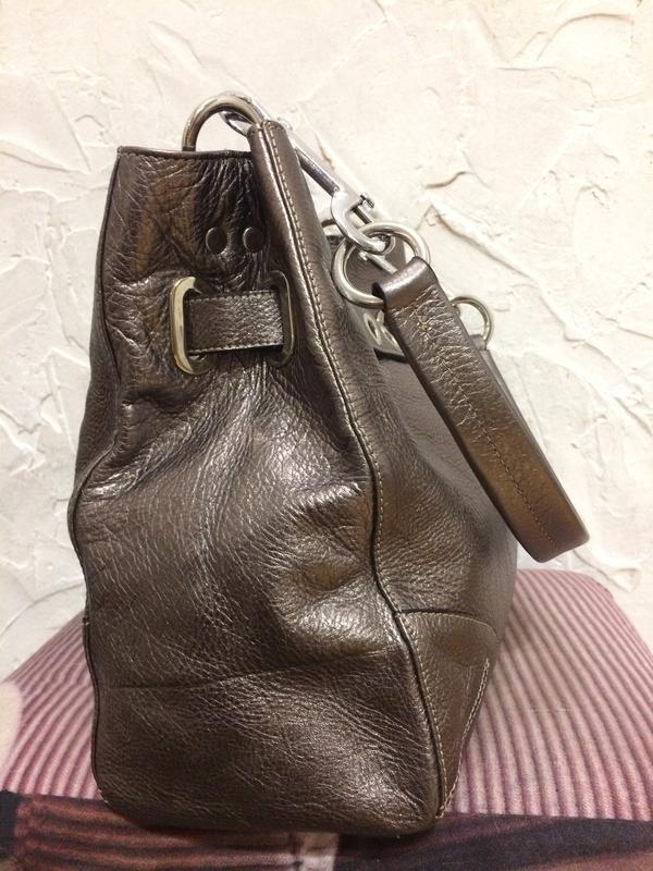 Очень классная стильная большая сумка  100% кожа - Фото 4