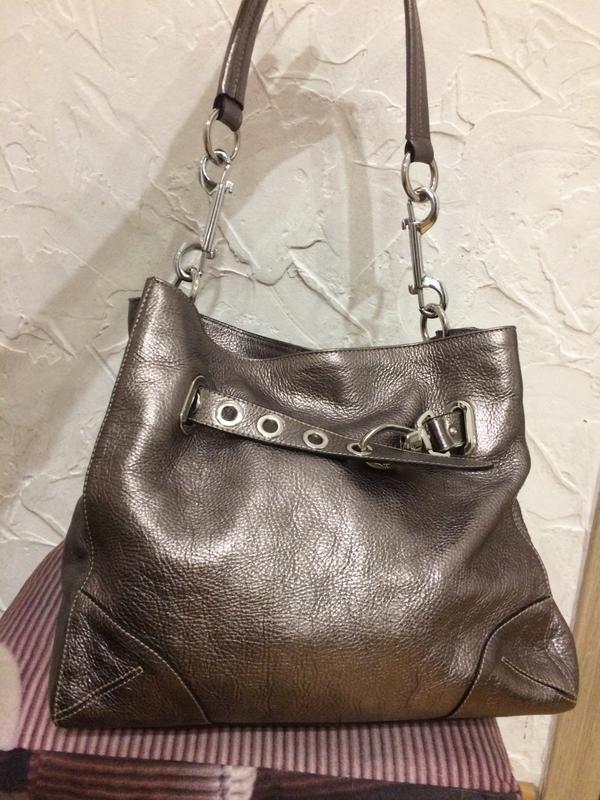 Очень классная стильная большая сумка  100% кожа - Фото 8