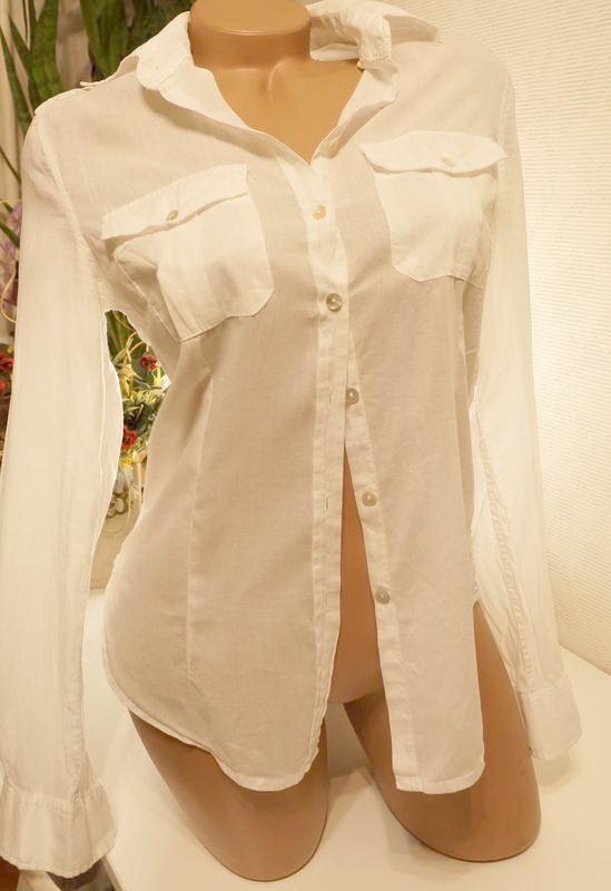 Рубашка,блуза, сорочка, батник h&m (бангладеш)из тончайшей бяз...