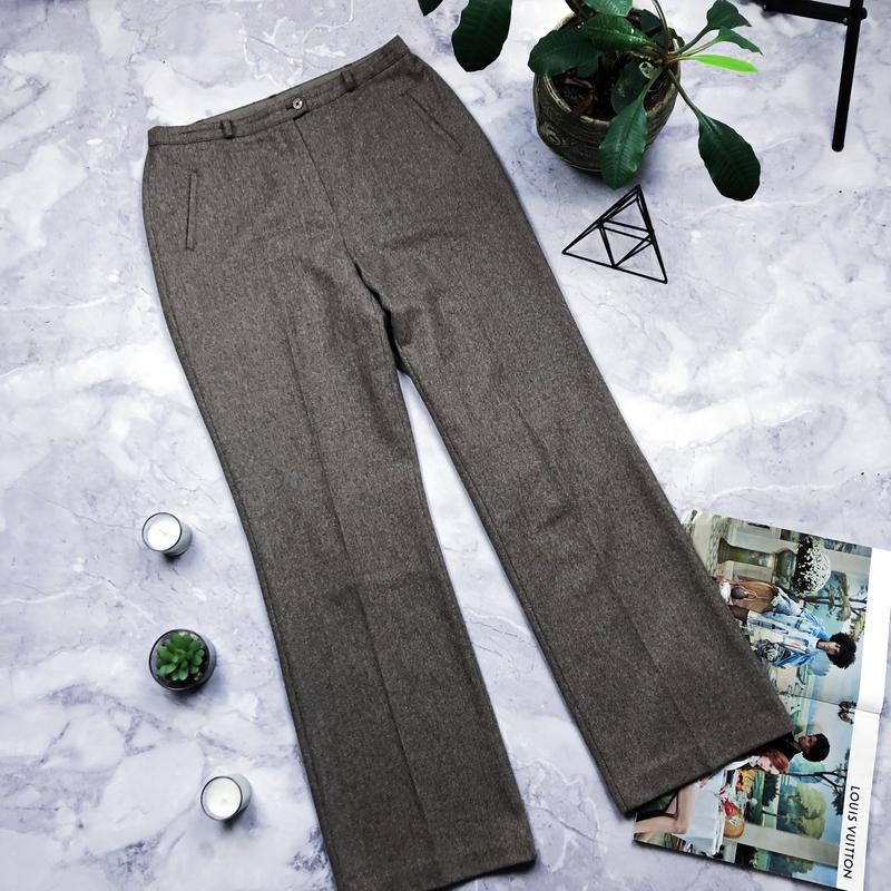 Теплые крутые шерстяные брюки marks & spencer