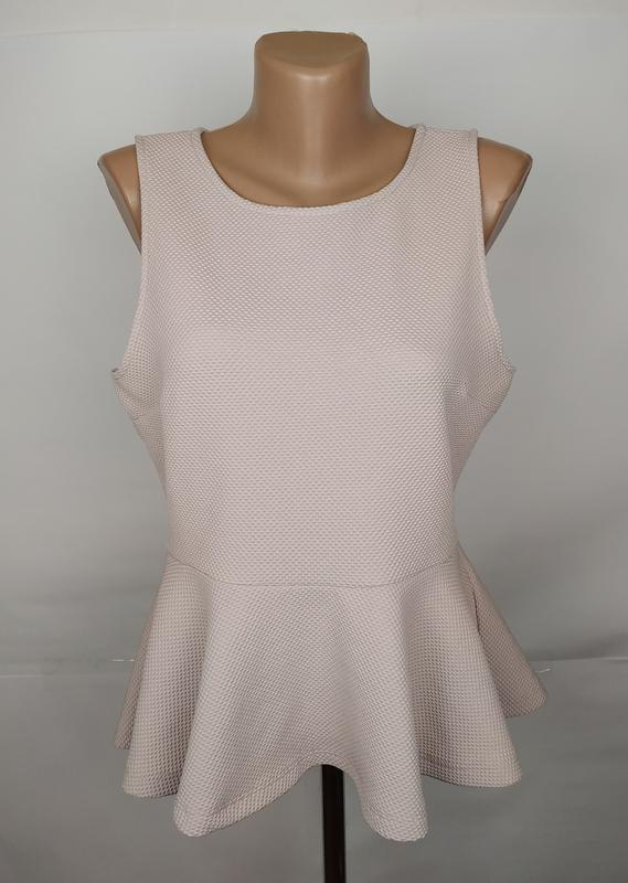 Блуза красивая фактурная с баской h&m uk 12/40/m