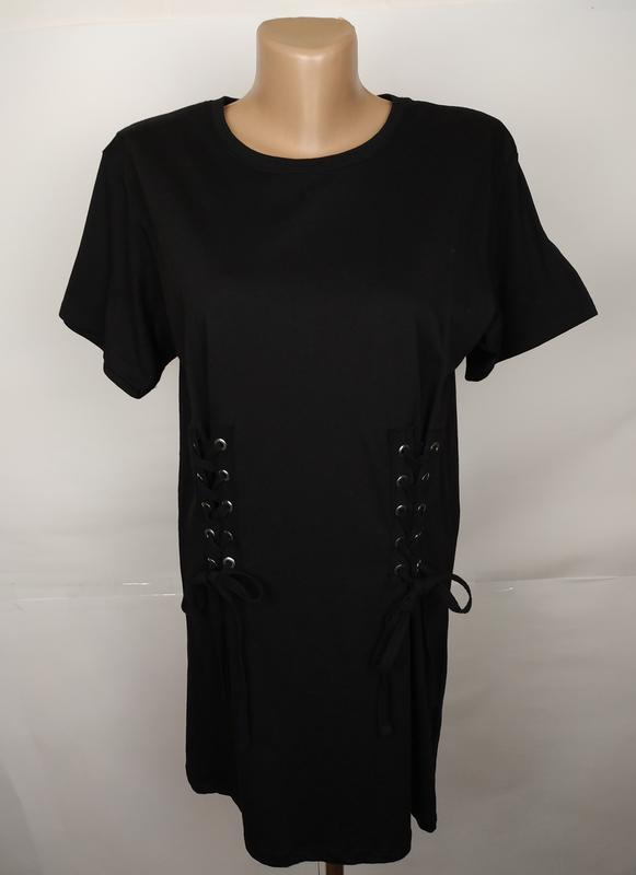 Блуза футболка стильная с завязками спереди new look uk 6/34/xs