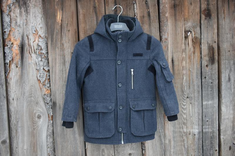 St. bernard детское полупальто куртка кашемир серое на мальчик...