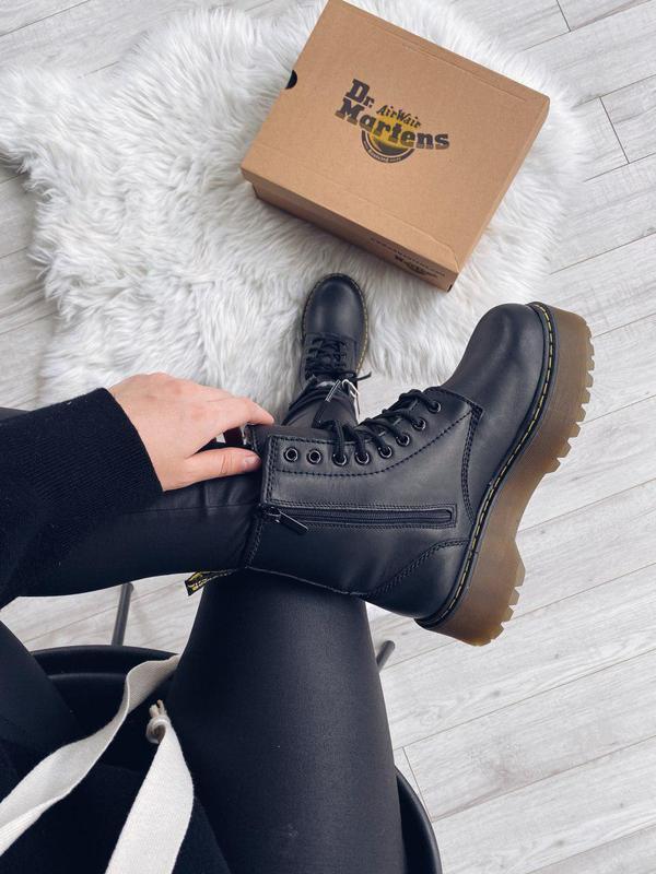 Зимние ботинки Dr Martens Jadon Platform Boots на овчине