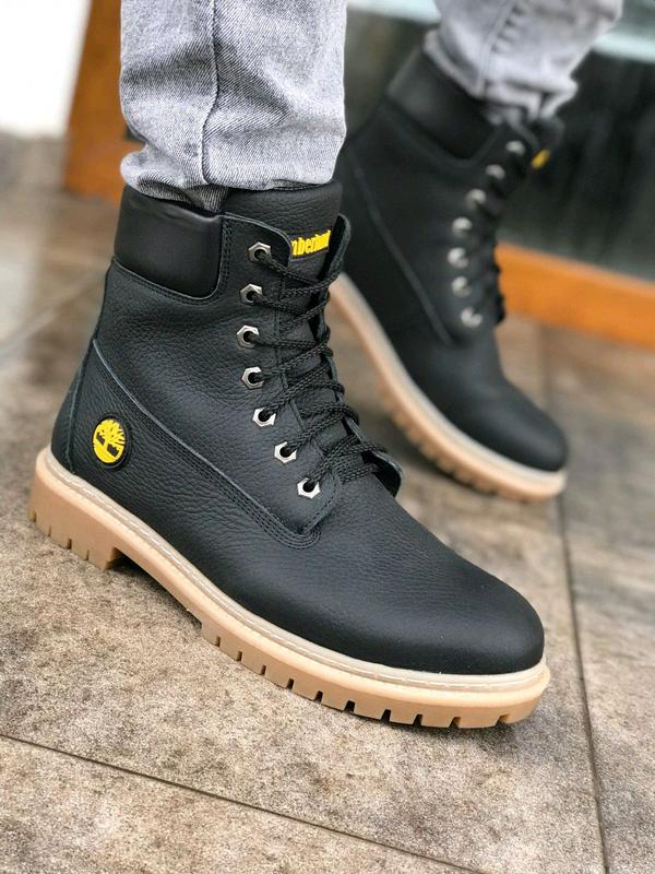 Зимние ботинки на меху Timberland. (Код 3004P) - Фото 4