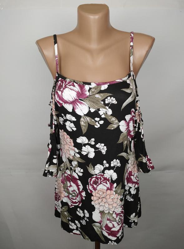 Блуза стильная трикотажная новая в принт select uk 12/40/m