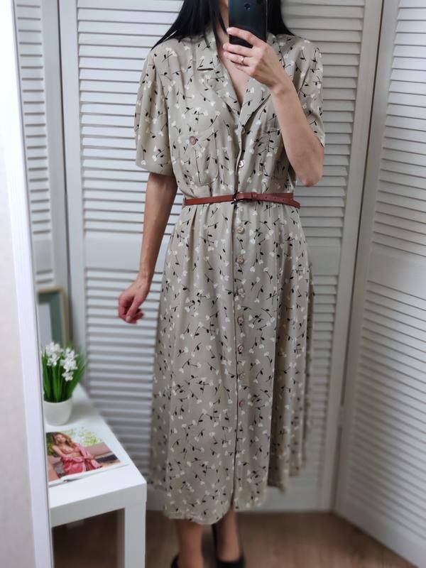 Платье-рубашка в цветочный принт m&s, uk 18/l-xl, можно и на м.