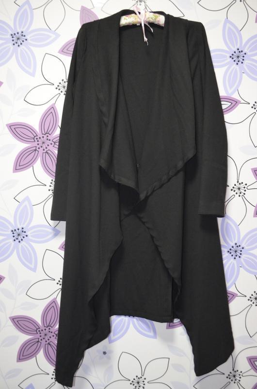 Черное платье-халат от  с глубоким разрезом (турция)