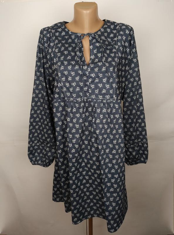 Блуза хлопковая оригинальная красивая laura ashley uk 12/40/m
