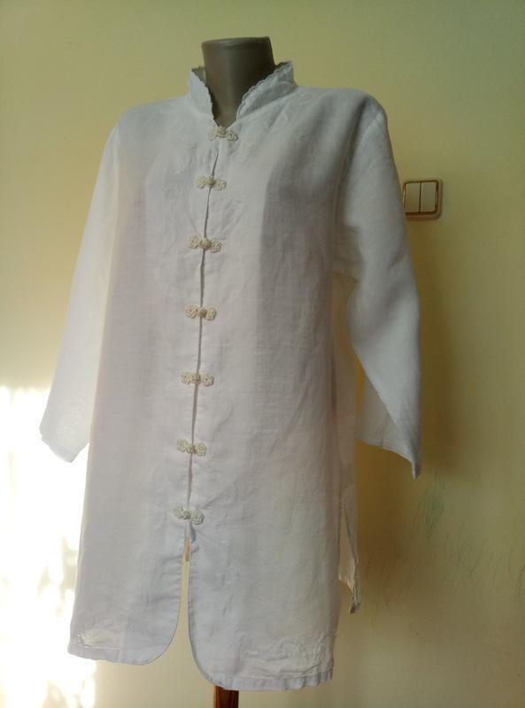 Итальянская блуза с вышивкой лен