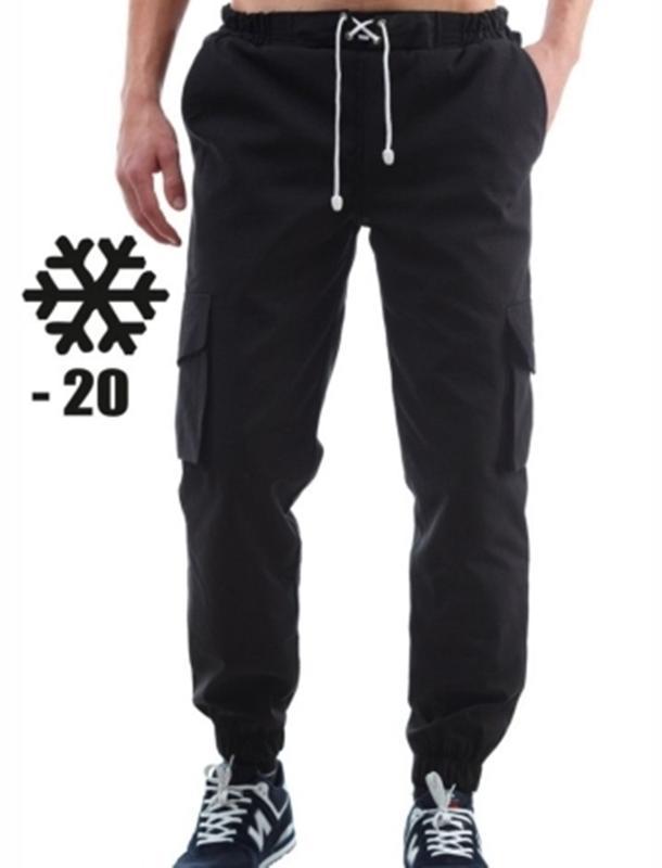 Зимові штани карго Ястреб чорні / Черные штаны Ястребь зимние
