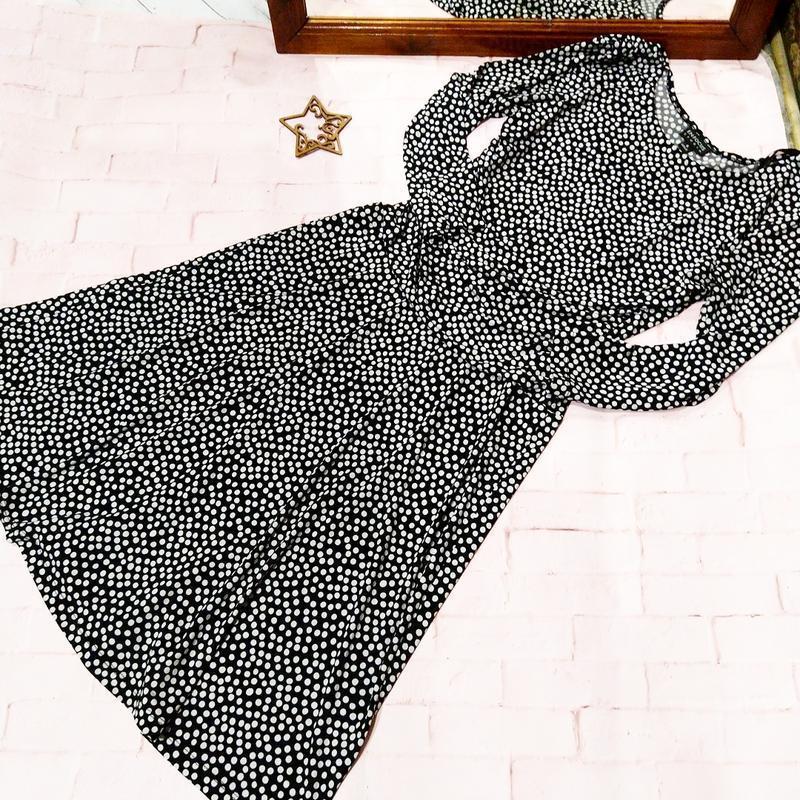 Миди платье в горох