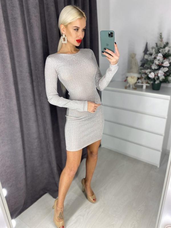 Шикарное праздничное платье мини