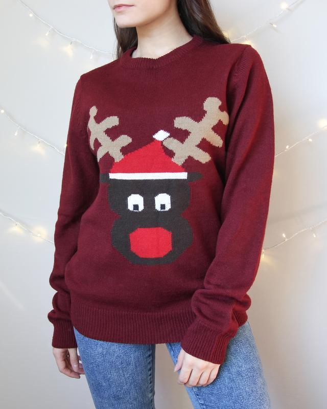 Новогодний свитер с оленем от next