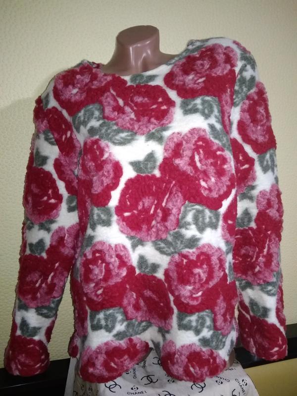 Свитер maren hesse  розы винтаж шерсть размер m-xxl