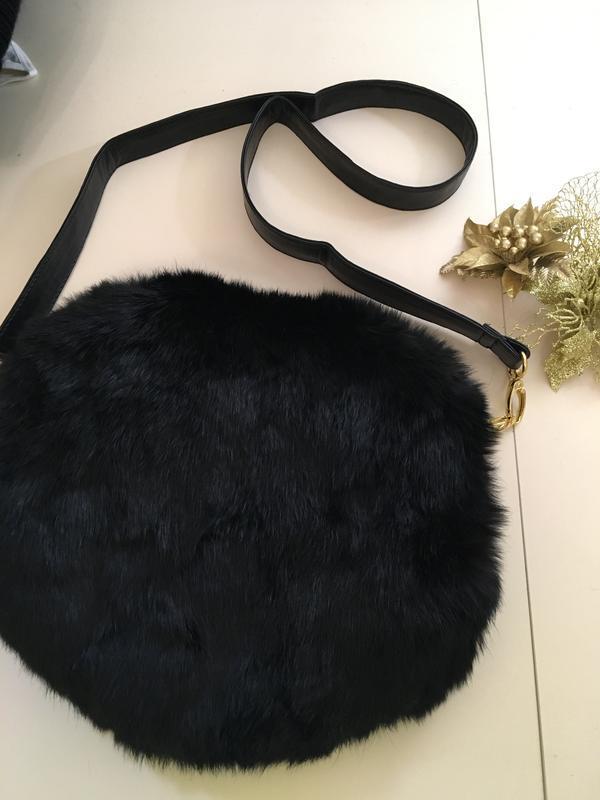 Зимняя меховая сумочка их кролика/муфта-сумочка