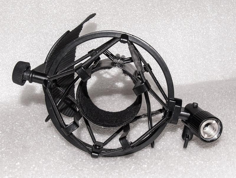 """Крепление на стойку """"паук"""" + поп фильтр для студийного микрофона - Фото 6"""