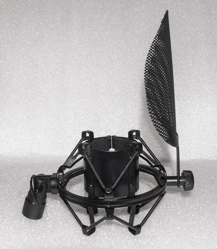 """Крепление на стойку """"паук"""" + поп фильтр для студийного микрофона - Фото 3"""