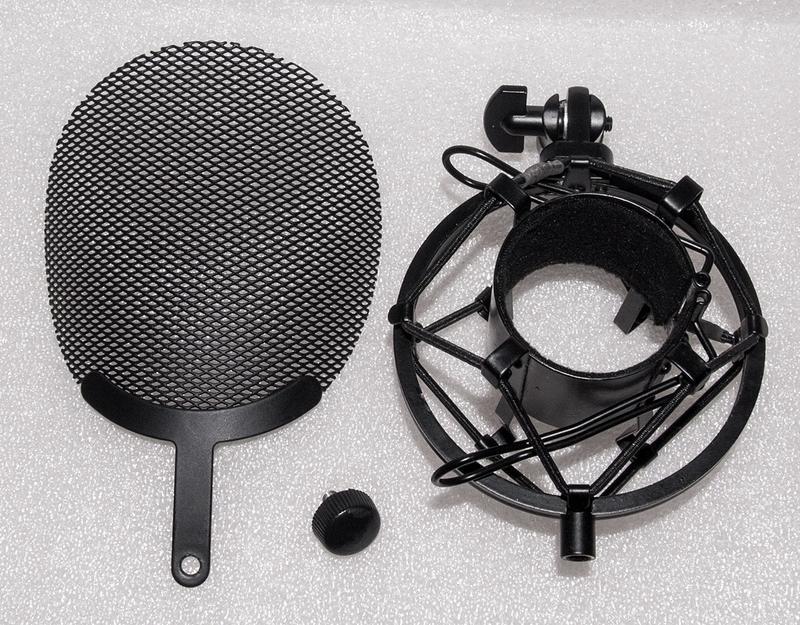 """Крепление на стойку """"паук"""" + поп фильтр для студийного микрофона"""