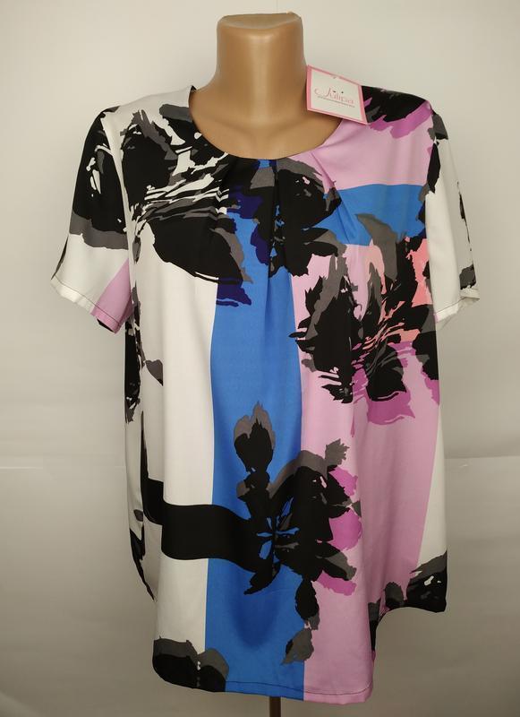 Новая легкая красивая блуза uk 16/44/xl