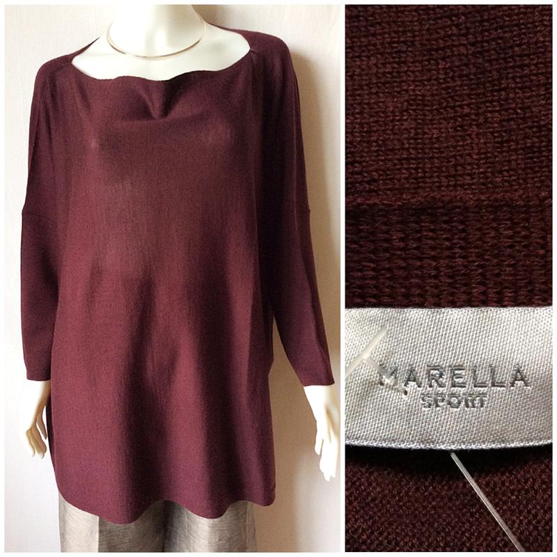 Новый джемпер, свитер marella оверсайз со снудом