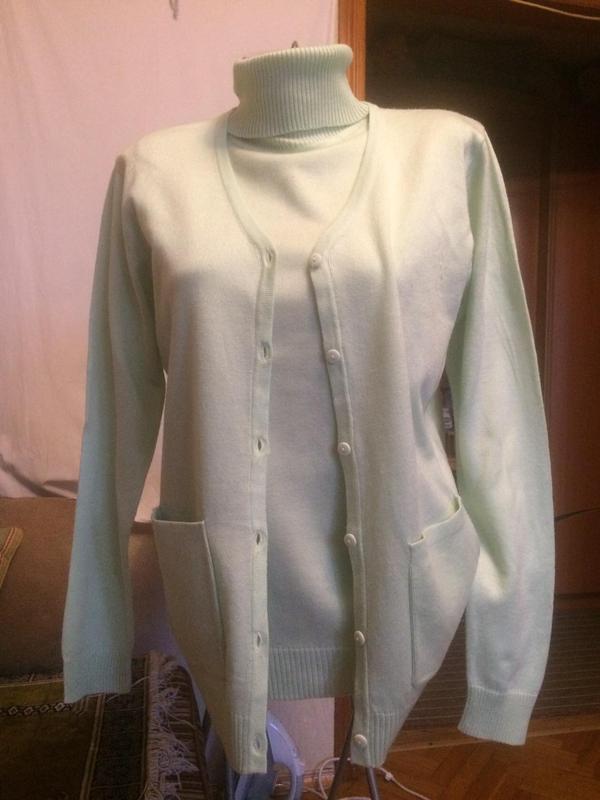 Комплект двойка,свитер + кардиган,от бренда cashmasoft