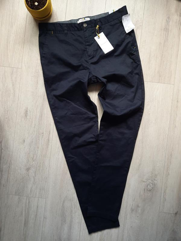 Штаны брюки синие мужские одежда мужская чиносы слимы слим sli...