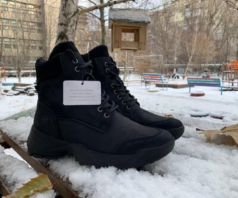 Зимние ботинки tamaris германия, оригинал. натуральная кожа, м...