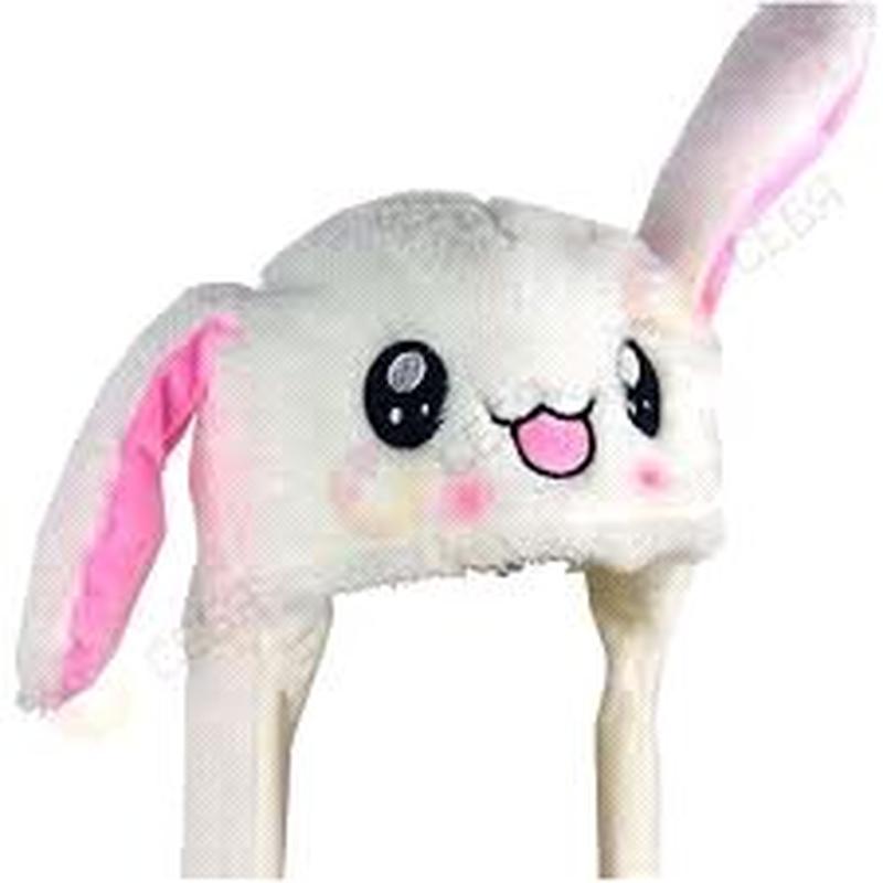 Шапка с двигающимися ушами в виде зайца