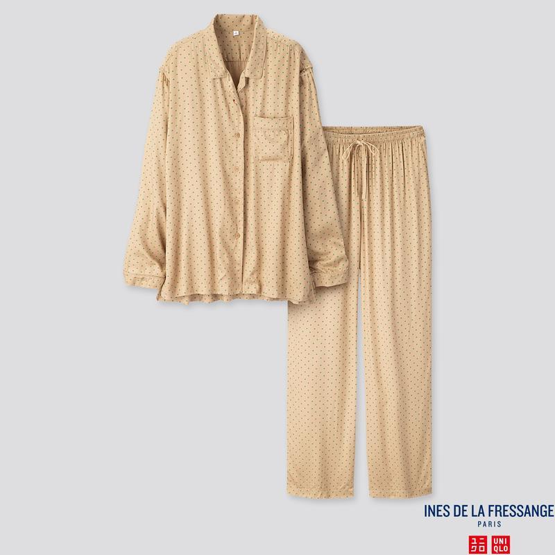 Женская нежная мягкая пижама uniqlo + ines de la fressange
