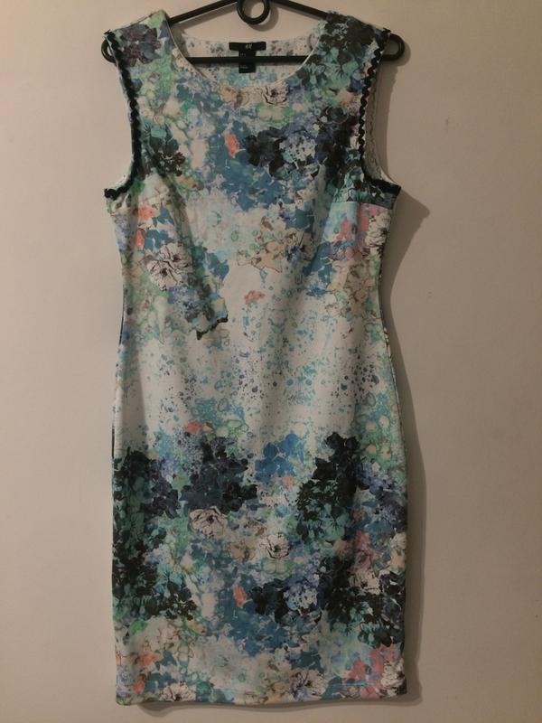 H&m платье сукня с цветочным принтом